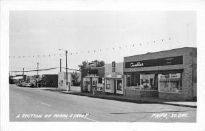 Faith SD Main Street Store Fronts RPPC Real Photo Postcard