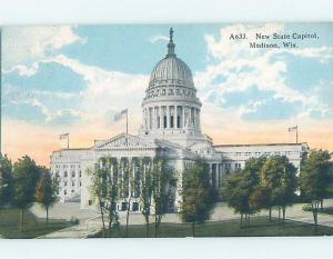 Divided-Back STATE CAPITOL BUILDING Madison Wisconsin WI G2352