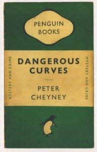 Dangerous Curves Peter Cheyney 1949 Book Postcard