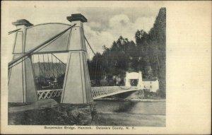 Hancock NY Delaware County Suspension Bridge c1910 Postcard