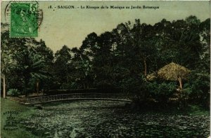 CPA AK INDOCHINA Saigon Le Kiosque de la Musique VIETNAM (957071)