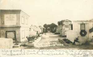 Matamoras Mexico Cemetery Undivided 1917 RPPC Photo Postcard 21-9849