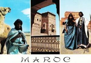 Maroc Moroccon Fashion Costume Headdress Morocco Postcard