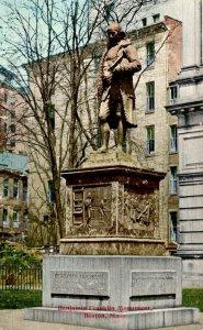 Massachusetts Boston Benjamin Franklin Monument