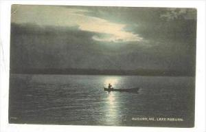 Man On A Boat, Lake Auburn, Auburn, Maine, PU-1906
