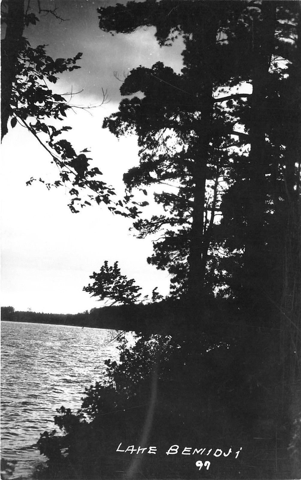 Bemidji Minnesotalake Bemidji At Sunset1940s Real Photo
