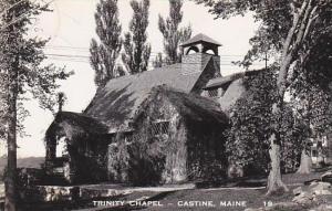 Maine Castine Trinity Chapel  Real Photo RPPC