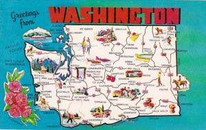 Greetings From Washington With Map