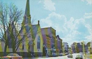 Vermont St Johnsbury Main Street Showing First Church Of Christ Scientist