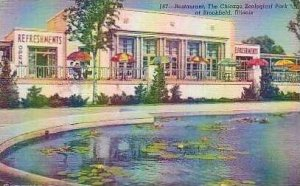 Illinois Brookefield Restaurant The Chicago Zoological Park at  Curteich