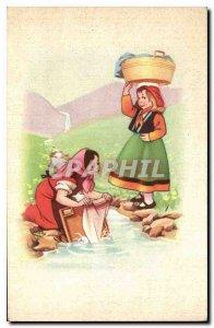 Postcard Old Women