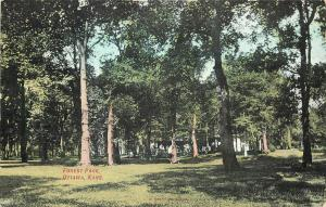 c1910 Printed Postcard; Forest Park, Ottawa KS Franklin County unposted