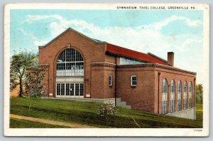 Greenville Pennsylvania~Thiel College Gymnasium on Hillside~Dirt Path~c1920
