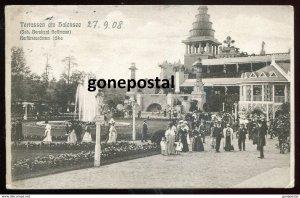 dc983 - GERMANY Berlin- Halensee 1908 Amusement Luna Park. In Yiddish. Judaica