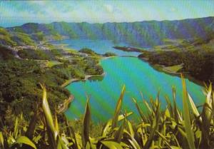 Portugal Azores San Miguel Sete Cidades The Two Lakes 1975
