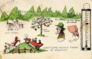 VT - What Some People Think of Vermont © 1908, C.H.Clark, St Johnsbury)   ...