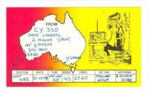 QSL cardMt Gambier, South Australia, 40-50s