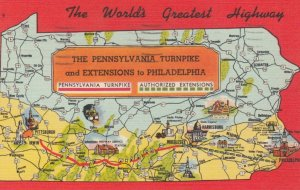 Turnpike , Pennsylvania , 30-40s ; MAP #2