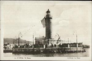 Patras Greece Lighthouse Le Phare c1920 Real Photo Postcard