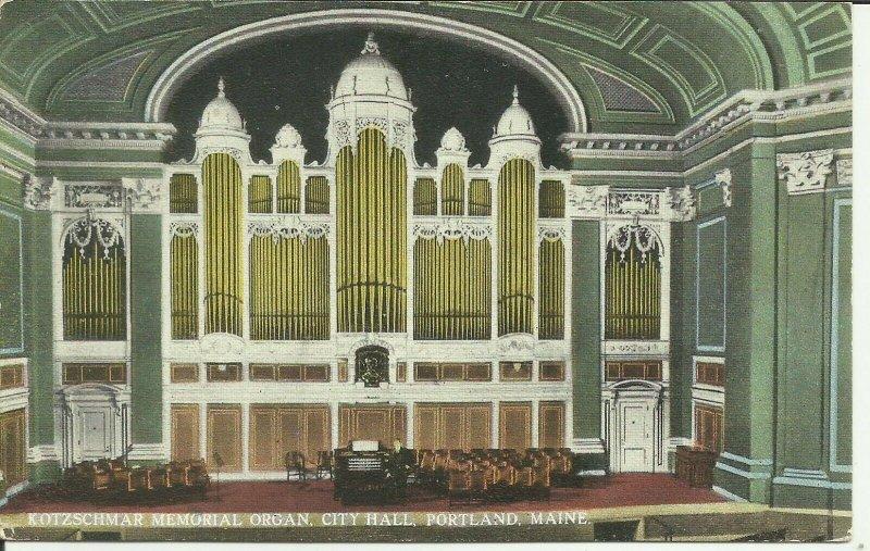 Portland, Maine, Kotzschmar Memorial Organ, City Hall