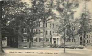 Hanover New Hampshire~Dartmouth College~Streeter Hall~1936 Postcard