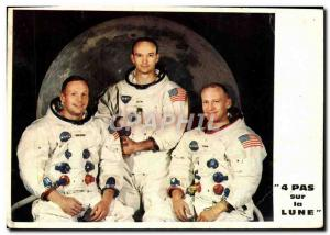 Postcard Modern Four Steps on the Moon Cosmonaut Space