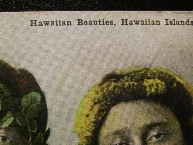 Three Hawaiian Beauties  1910's- Island Curio Company-RPPC