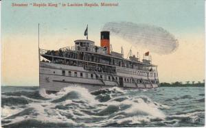 MONTREAL , Quebec , Canada , 00-10s : Steamer Rapid Kings in Lachine Rapids