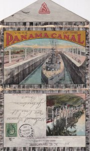 PU-1914; Views Of The PANAMA CANAL Folder Postcard