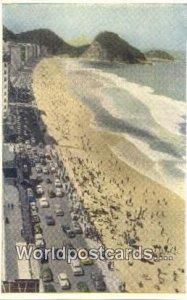 Av Atlantica e praia de Copacabana Rio De Janeiro Brazil Unused