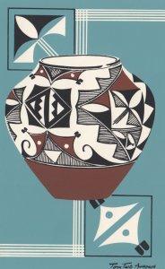 Acoma Indian Pottery jar , 1958