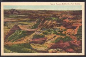 Painted Canyon Bad Lands ND Postcard 4662