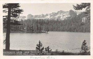 LPS23 Mammoth Lakes California Horseshoe near Lake Tamarack Lodge Frashers RPPC