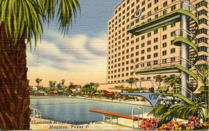 TX - Houston. Shamrock Hotel, Swimming Pool