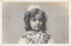 Young European Girl Real Photo RPPC Used Postcard