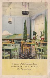 Iowa Des Moines Younkers Tea Room Corner Of The Garden Room 1944