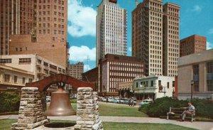 Fort Worth, TX, Throckmorton Street from City Hall, 1962 Chrome Postcard g9065