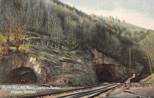 LPS43 North Adams Massachusetts Eastern Portal Hoosac Train Tunnel Postcard