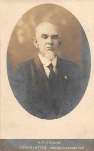 G24/ Dexter Michigan RPPC Postcard c10 Legislative Representative A.D. Crane