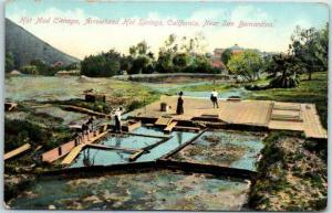 1910s Arrowhead Hot Springs, California Postcard Hot Mud Canyon Newman UNUSED