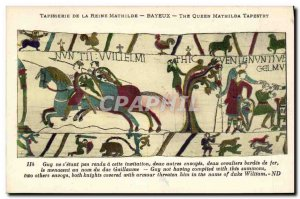 Postcard Old Bayeux Tapestry Mathilde Guy Queen did not s being made to this ...