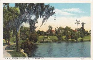 Florida Lake Wales View Of Crystal Park 1936