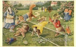 Racey Helps, The Medici Society Ltd., London Tennis, Old Vintage Antique, Pos...