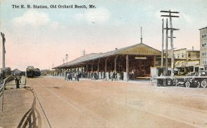 LPS02 Old Orchard Maine The Railroad Station Train Depot Vintage Postcard