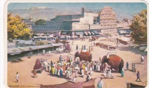 India Jeypore The Chowk and Howa Mahal Elephants