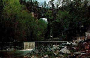 Virginia Natural Bridge View Of Natural Bridge and Water Falls