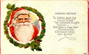 Greeting - Christmas. Santa Claus
