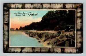Cleveland OH, Lake Shore Drive, Gordon Park, Vintage Ohio c1912 Postcard