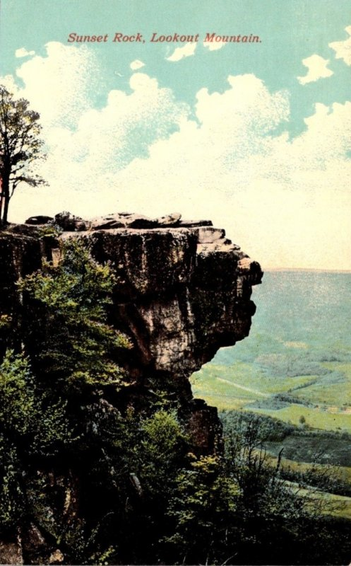 Tennessee Chattanooga Sunset Rock On Lookout Mountain