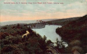 General View Looking East of Mohonk Lake, New York, Early Postcard, Unused